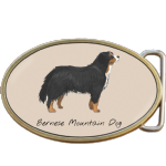 Bernese Mountain Dog Belt Buckle. Code A0068